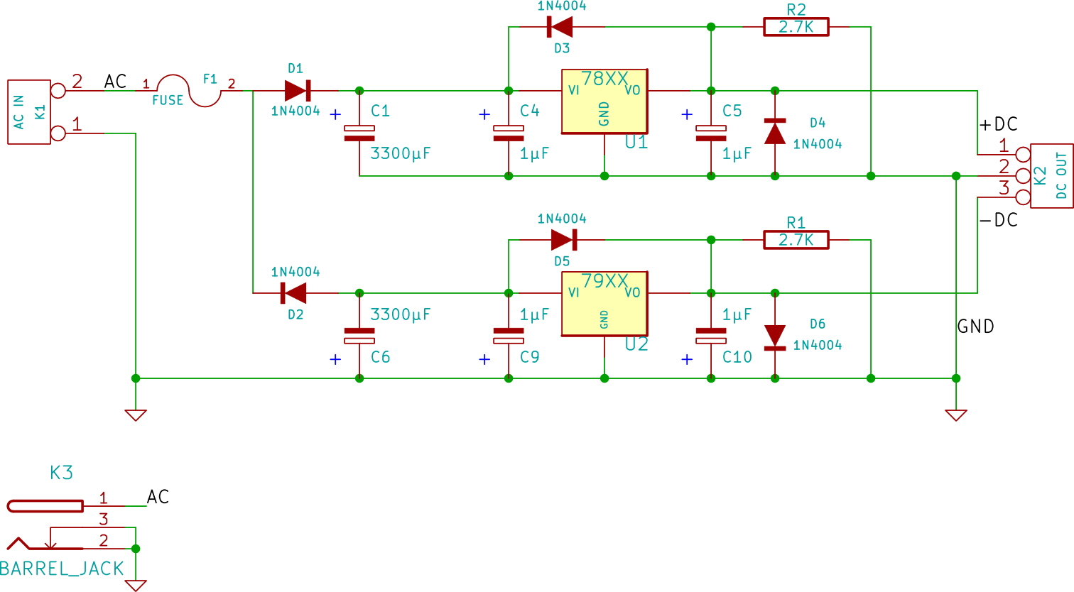 Mini Dual Power Supply | Electronic things… and stuff
